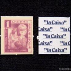 Monedas locales: AHORRO POPULAR Y ESCOLAR. CARTÓN 1 PTA. LA CAIXA (CAIXABANCK). AÑOS 70. ¡¡PERFECTO!!. Lote 58009693