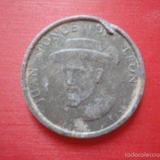 LEÓN. antigua ficha metálica. recuerdo de Juan Ponce de León.