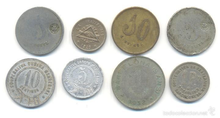 Monedas locales: T- OCHO FICHAS DIVERSAS. MANRESA BARCELONETA BARCELONA SANS EN LOTE - Foto 2 - 58550949