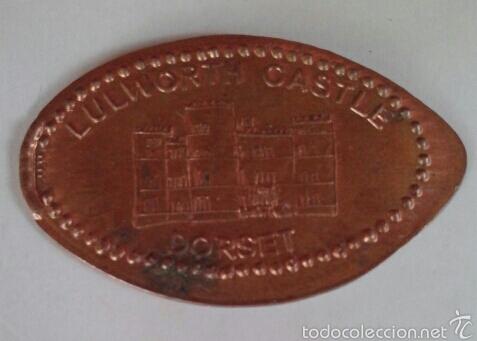 MONEDA ELONGADA DE LULWORTH CASTLE, DORSET, INGLATERRA (Numismática - España Modernas y Contemporáneas - Locales y Fichas Dinerarias y Comerciales)