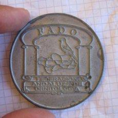 Monedas locales: MONEDA MEDALLA FADO FEDERACION ANDALUZA DE ORNITOLOGIA. Lote 60613703
