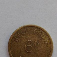 Monedas locales: FICHA ,MONEDA ,TOKEN ,BELL-FRUIT. Lote 60832255