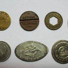 Monedas locales: CONJUNTO DE 10 FICHAS LOCALES, COMERCIALES O DINERARIAS. LOTE 0212. Lote 61408675