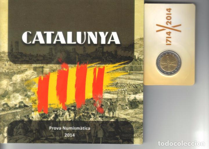 EUROSET TRICENTENARIO CATALUNYA 1714-2014 + BLISTER 2 EUROS (Numismática - España Modernas y Contemporáneas - Locales y Fichas Dinerarias y Comerciales)