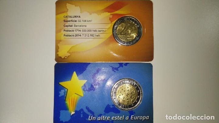 Monedas locales: colección completa euroset Cataluña 2014 y 2015 + 2 blisters de 2 - Foto 4 - 62650660