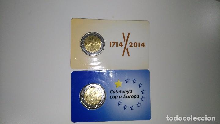 Monedas locales: PRUEBA MONEDA DE 2 DE CATALUNYA 2014 + 2015 - Foto 2 - 105194800