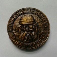 Monedas locales: FICHA PUBLICITARIA DEL BAR CLUB EL DOBLON, SEVILLA. Lote 63381646