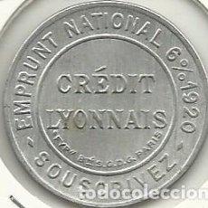 Monedas locales: (FCP-3) FICHA DE 5 CTS.CREDIT LYONNAIS. Lote 63903539
