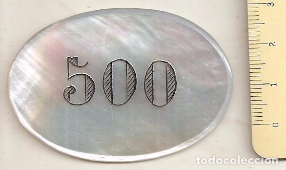 FICHA ANTIGUA DE 500 PESETAS DE CASINO (Numismática - España Modernas y Contemporáneas - Locales y Fichas Dinerarias y Comerciales)