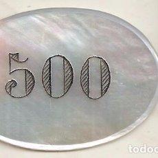 Monedas locales: FICHA ANTIGUA DE 500 PESETAS DE CASINO. Lote 64024775