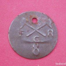 Monedas locales: PLACA FICHA MONEDA ANTIGUA A IDENTIFICAR. MUY RARA.. Lote 64180523
