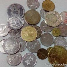 Monedas locales: LOTE DE DIVERAS FICHAS JETONES TOKENS .... Y DEMAS UNOS 300 GRAMOS . Lote 66917030