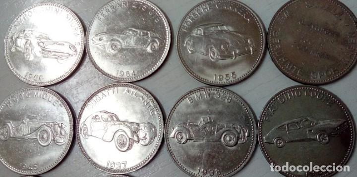Monedas locales: BONITO LOTE DE 12 FICHAS JETON TOKEN SHELL CON TEMATICA DEL AUTOMOBIL TODAS DIFERENTES - Foto 2 - 66917442