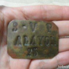 Monedas locales: GUERRA CIVIL MUY RARA CHAPA RACIONAMIENTO VALOR 25 SAN VICENTE PAUL ALAYOR ALAIOR MENORCA. Lote 68129333