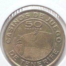 Monedas locales: ## FICHA DE CASINO DE 50 PTAS - CASINO DE TENERIFE - FNMT ##. Lote 68471061