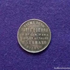 Monedas locales: FICHA BONO ORIGINAL DE BILBAO DE PASTA EDERRA. B.SERRANO.. Lote 68672041