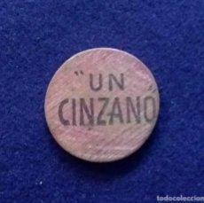 Monedas locales: FICHA ORIGINAL UN CINZANO DE MADERA CIRCULAR. AÑOS 30 - 40.. Lote 68673429