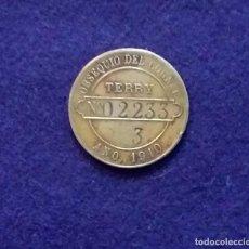 Monedas locales: FICHA ORIGINAL DE PUERTO SANTA MARIA DE COGNAC TERRY. 1910.. Lote 68673797