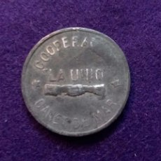 Monedas locales: FICHA ORIGINAL DE CANET DE MAR DE COOPERATIVA LA UNION. 5 PESETAS.. Lote 68679957