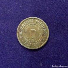 Monedas locales: FICHA ORIGINAL DE TERRASA - TARRASA DE COOPERATIVA POPULAR ELS AMICS. 10 CENTIMOS. 1935.. Lote 68681865