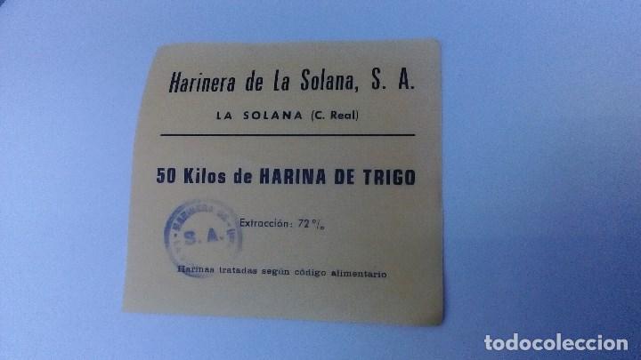 VALE DE 50 KILOS DE HARINA DE TRIGO HARINERA DE LA SOLANA, S.A. EXTRACCION DEL 72% (Numismática - España Modernas y Contemporáneas - Locales y Fichas Dinerarias y Comerciales)