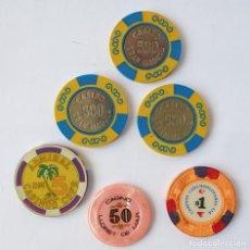 Monedas locales: FICHAS DE CASINO. GRAN MADRID.LLORET DE MAR. CHECOSLOVAQUIA. Lote 69368433