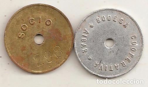 Monedas locales: Cooperativa de Aibar (Navarra). 2 fichas - Foto 2 - 195205023