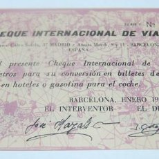 Monedas locales: CHEQUE INTERNACIONAL DE VIAJE 5 KM. 1962. Lote 73409879