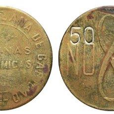 Monedas locales: *** ESCASA FICHA 50 CÉNTIMOS, COCINAS ECONOMICAS (SEVILLA) ASOCIACIÓN SEVILLANA DE CARIDAD ***. Lote 73672431