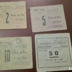 Monedas locales - Vales de pan de Andrés Naranjo, panaderos del tinte . Cuidad Real - 73826747