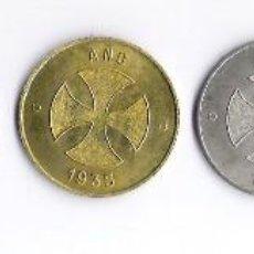 Monedas locales: SERIE COMPLETA * COOPERATIVA POPULAR DE BARCELONA 1935 * 6 VALORES **DIFISIL DE CONSEGUIR** EBC. Lote 74689219