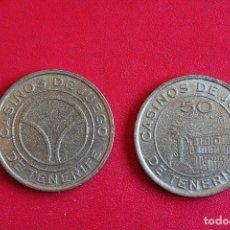Monedas locales: FICHAS O TOKENS CASINO TENERIFE VALOR 50 PTS. Lote 75428723