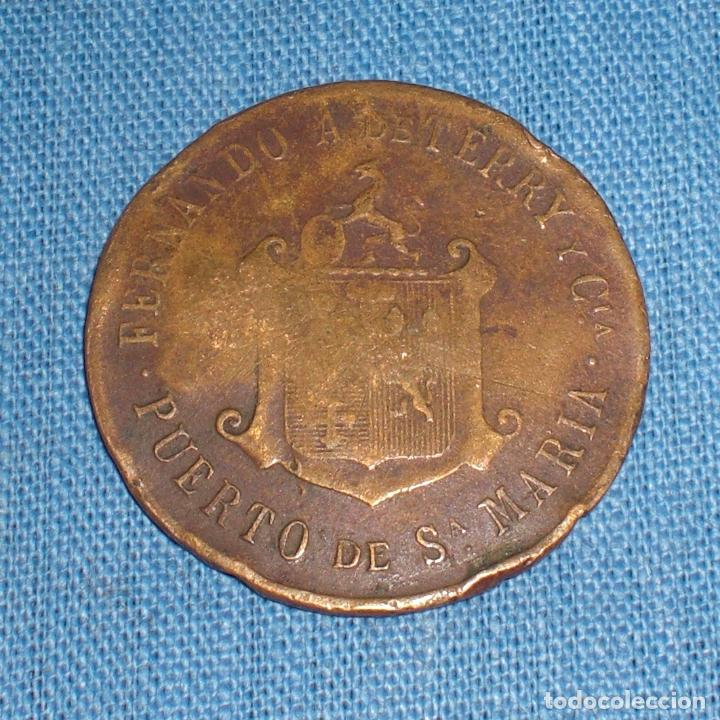 FICHA TERRY PUERTO DE SANTA MARIA 1910 (Numismática - España Modernas y Contemporáneas - Locales y Fichas Dinerarias y Comerciales)