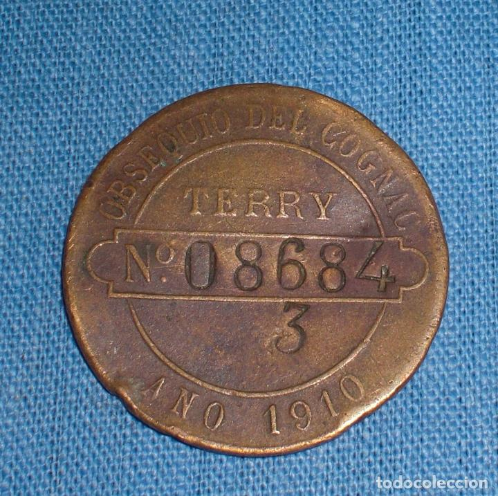 Monedas locales: Ficha Terry Puerto de Santa Maria 1910 - Foto 2 - 76763355