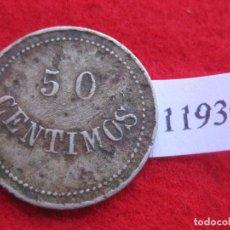 Monedas locales: 50 CENTIMOS BALNEARIO DE MONDARÍZ, PONTEVEDRA, FICHA, TOKEN, JETÓN . Lote 77519729