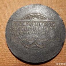 Monedas locales: 5 PESETAS - UNIÓN COOPERATIVISTA BARCELONESA EL RELOJ Y LA DIGNIDAD - 32 MM. FICHA - TOKEN - JETON. Lote 78739181