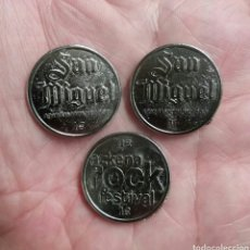 Monedas locales: LOTE FICHAS CERVEZAS SAN MIGUEL DEL AZKENA ROCK.. Lote 132941246