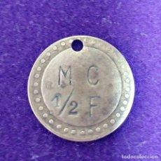 Monedas locales: ANTIGUA FICHA M C 1/2 F. SEVILLA. MEDIA FANEGA. . Lote 80634514