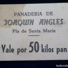 Monedas locales - Vale por 50 kilos de pan - Panaderia de Joaquin Angles - Pla de santa Maria ( Tarragona ) raro - 81074276