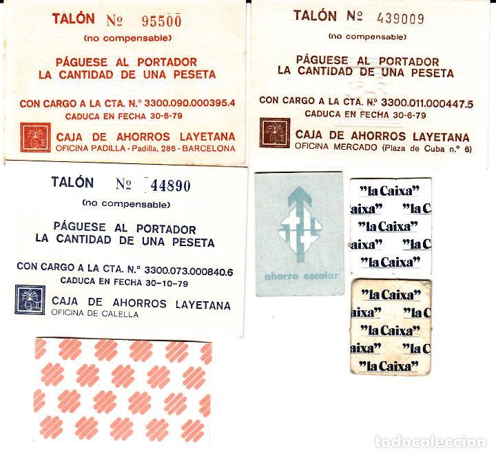 Monedas locales: LOTE DE 7 VALES MONEDA -EMITIDOS EN LOS AÑOS 70 POR LA CAIXA,BANCA CATALANA, CAJA LAYETANA, CAMPB BA - Foto 2 - 83024276