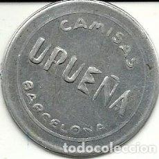 Monedas locales: (FCP-17)FICHA 10 CTS.CAMISAS UREÑA DE BARCELONA. Lote 83406816