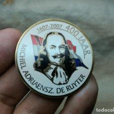 Monedas locales: GEOCACHING.FICHA BRONCE ESMALTADO A FUEGO DUCTCH GEOCOIN 2007 MICHIEL ADRIAENSZ DE RUYTER 400 JAAR . Lote 83415556
