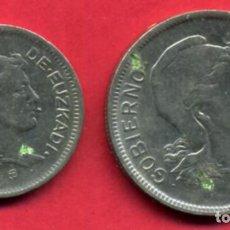 Monedas locales: MONEDA LOCAL, SERIE 2 MONEDAS EUZKADI , 1 Y 2 PESETAS 1937 , ORIGINAL , A8. Lote 84595024
