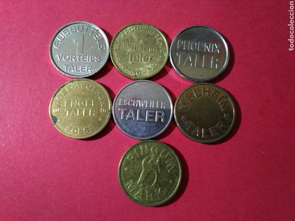 Monedas locales: LOTE DE TOKENS/FICHAS/JETONES. FARMACIA. ALEMANIA. - Foto 2 - 84868814