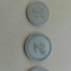 Monedas locales: TRES FICHAS DE CASINO. Lote 85277067