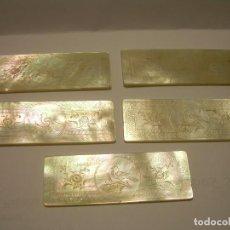 Monedas locales: ANTIGUAS FICHAS DE CASINO DE NACAR TALLADAS A MANO...SIGLO XIX.. Lote 85757108