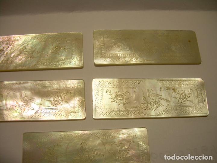 Monedas locales: ANTIGUAS FICHAS DE CASINO DE NACAR TALLADAS A MANO...SIGLO XIX. - Foto 2 - 85757108