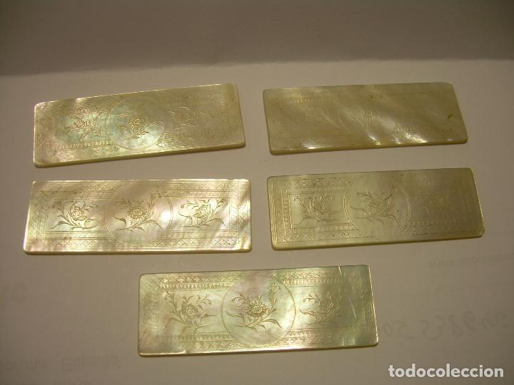 Monedas locales: ANTIGUAS FICHAS DE CASINO DE NACAR TALLADAS A MANO...SIGLO XIX. - Foto 3 - 85757108