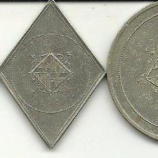 Monedas locales: (FCP-49)LOTE DE 3 FICHAS DE CASINO,COMERCIO,SINDICATO???-ESCUDO DE BARCELONA. Lote 86731396
