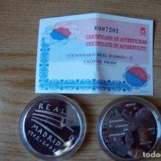 Monedas locales: MONEDA PLATA I CENTENARIO REAL MADRID ENCAPSULADA PERFECTA. Lote 86940936